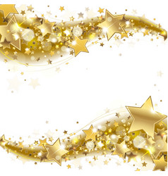 Banner with Gold Stars vector