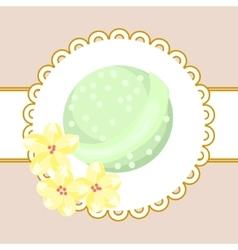 Bath bubble bomb Aromatherapy bomb badge vector image