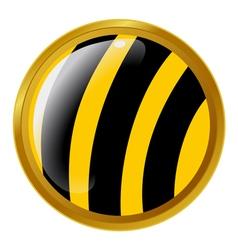 Bee button vector