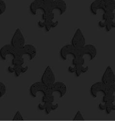 Black textured plastic solid Fleur-de-lis vector