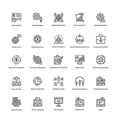 Business and finance line icons 8 vector