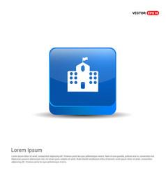 castle icon - 3d blue button vector image