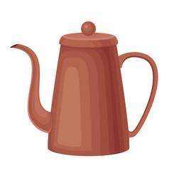 ceramic kettle for making tea vector image
