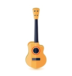 Classical acoustic guitar Isolated vector image