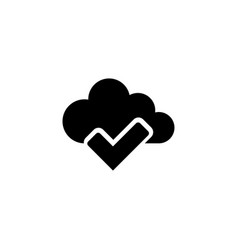 cloud check mark flat icon vector image