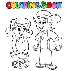Coloring book school topic 3 vector