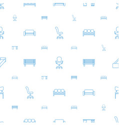 Comfortable icons pattern seamless white vector