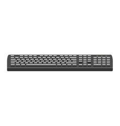 Computer keyboard flat icon vector image