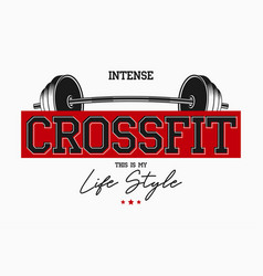 crossfit athletic typography for t-shirts vector image