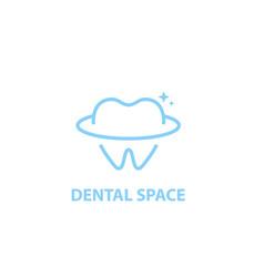 dental space logo vector image
