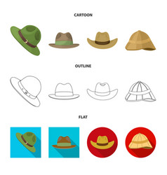 Design hat and cap icon collection of vector