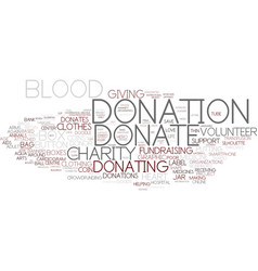 Donating word cloud concept vector