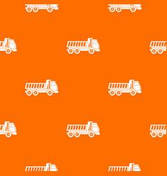 dumper truck pattern seamless vector image