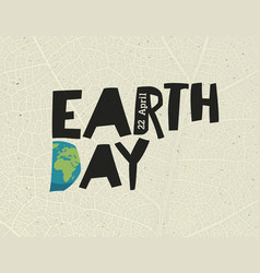 Earth day 22 april design template with free vector