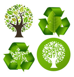 eco trees set vector image