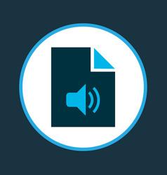 File audio icon colored symbol premium quality vector