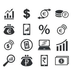 Finance icon set 2 simple vector