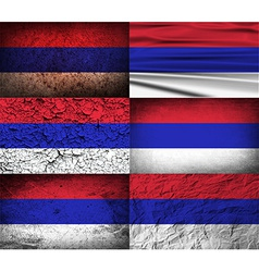 Flag of Republika Srpska with old texture vector image