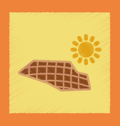 Flat shading style icon solar panels vector