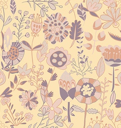 Flower pattern seamless texture vector