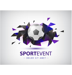 football abstract design template for vector image