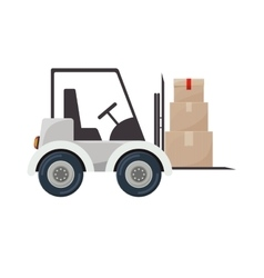 Forklift truck with sealed packages vector