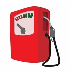 Gas station cartoon icon vector