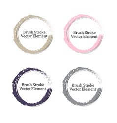 grunge brush element vector image