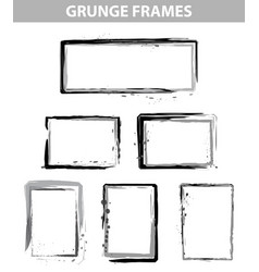 grunge dot frames set vector image
