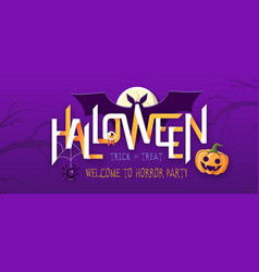 halloween party poster with jack o lantern vector image