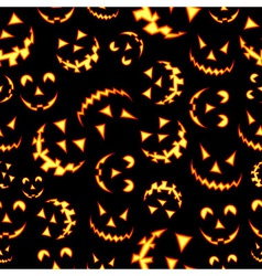 Halloween terror background pattern vector image