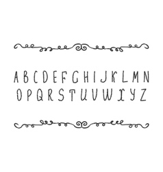 Hand draw alphabet latin letters isolated on vector