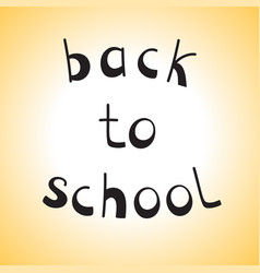 hand drawn sketch back to school vector image