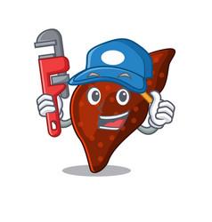 Human cirrhosis liver smart plumber cartoon vector