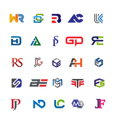 Initial letters combination set vector