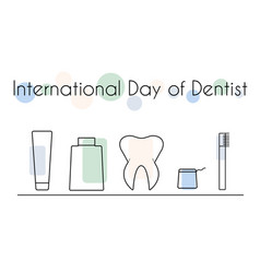 international day of dentist vector image