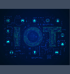 iot concept vector image