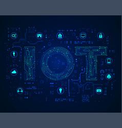 Iot concept vector