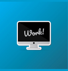 Isolated desktop computer icon lettering quote on vector