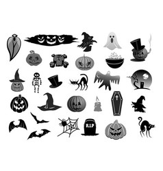 Isolated icons for halloween holiday party vector