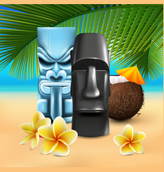 kahuna hawaiian beach composition vector image