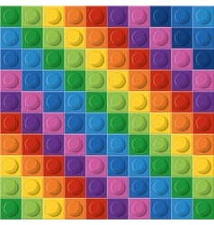 Lego icon Abstract figure Multicolored vector image