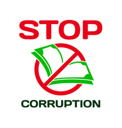 Lettering stop corruption day for international vector