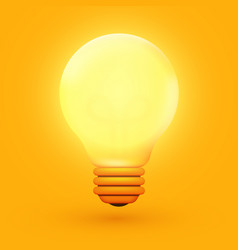 light bulb creative idea and innovation vector image