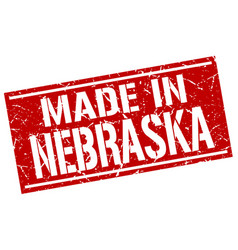Made in nebraska stamp vector