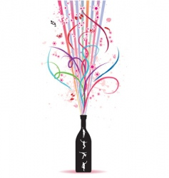 magic bottle vector image