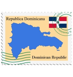 Mail to-from dominican republic vector