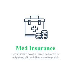 Medical insurance concept healthcare compensation vector