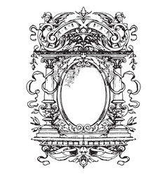 Modern typographical frame very varied vector