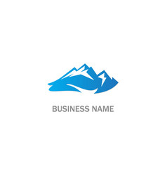 mountain company logo vector image